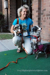Torrey and Roxy with Mary from Roxy the Traveling Dog