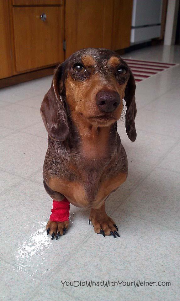 Gretel in her bandage