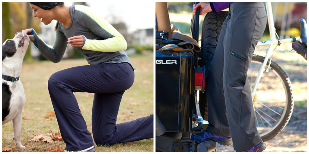 Lululemon Dog Runner Pant (left) & Title Nine Genie Pant (right_