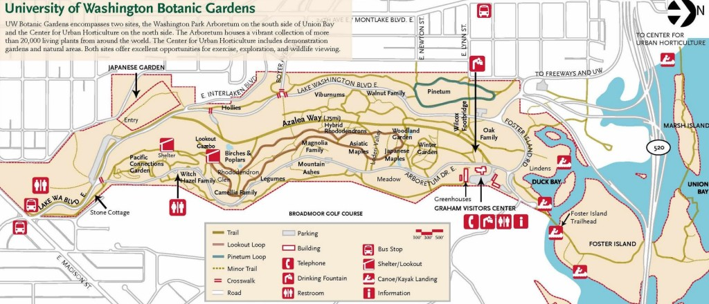 Arboretum trail map