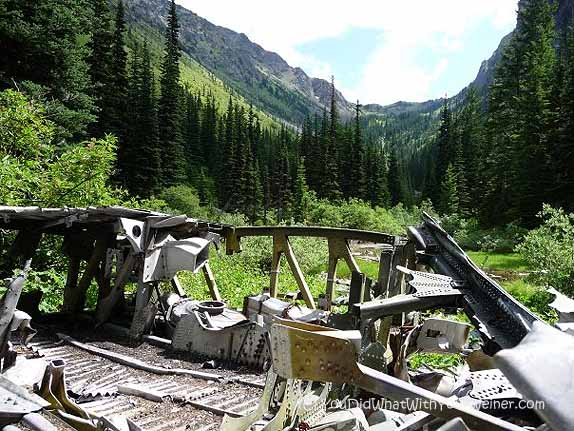 Airplane Wreckage Near Tubal Cain Mine