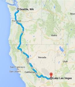 BlogPaws Road Trip Map