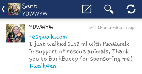 ResQwalk SponsoredTweet