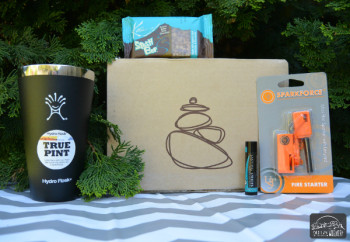 Hydroflask tumbler and other items from the April 2015 Cairn Box