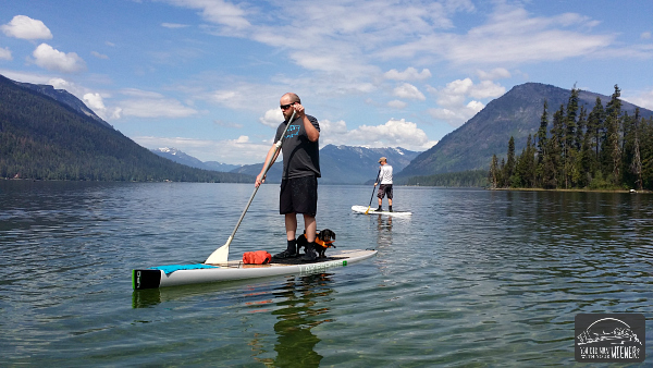 Lake Wenatchee Paddleboarding Dudes