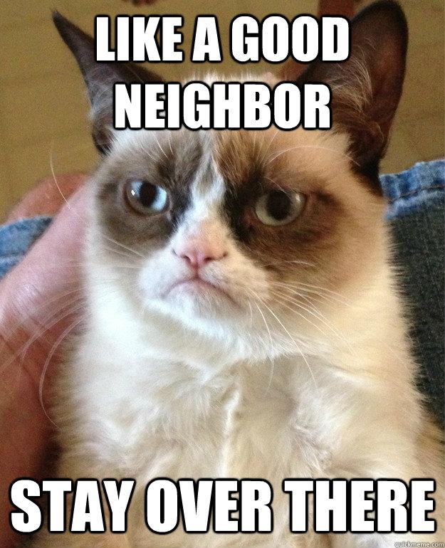 Grumpy Cat Good Neighbor