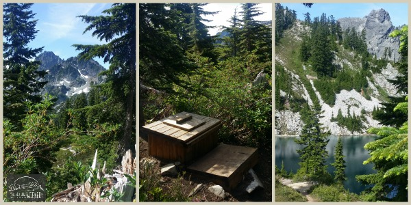 Backcountry toilet at Gem Lake, Snoqualmie Pass