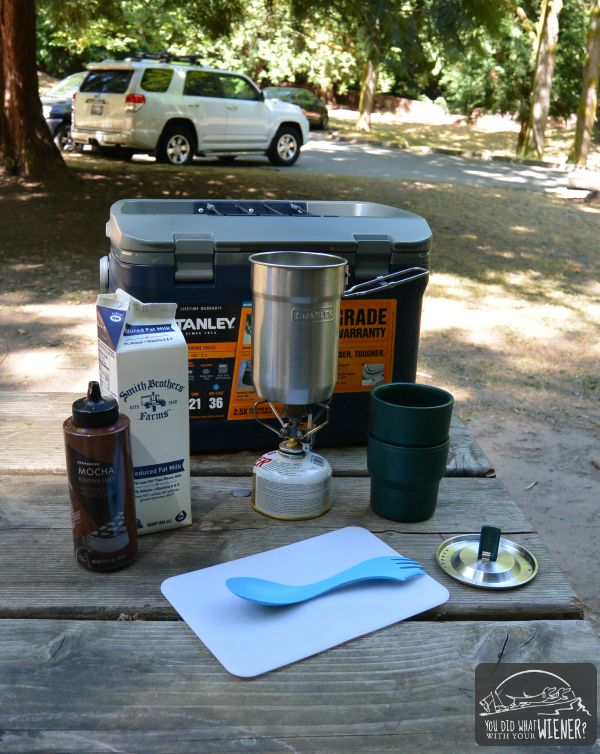 Stanley Brand cooler and cookset coffee