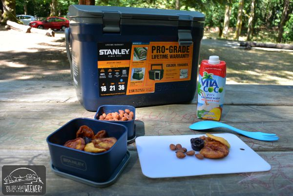 Stanley Adventure Cooler and road snacks