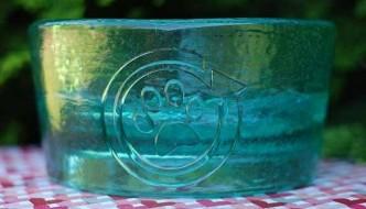"Blue ""sea glass"" PawNosh Bowl"