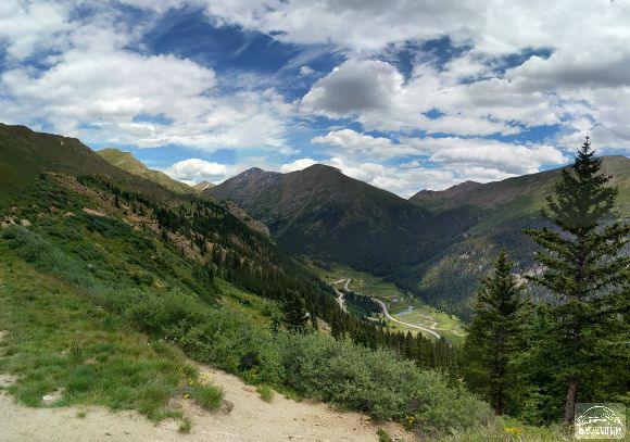 Top of the Rockies National Scenic Byway on our way to Aspen from Leadville, CO