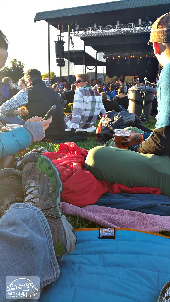 Our Kurgo Loft Hammock doubling as a ground cover at an outdoor concert