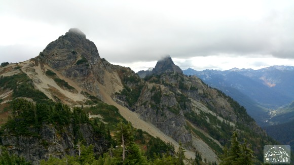 Chikamin Peak and Huckleberry Mountain