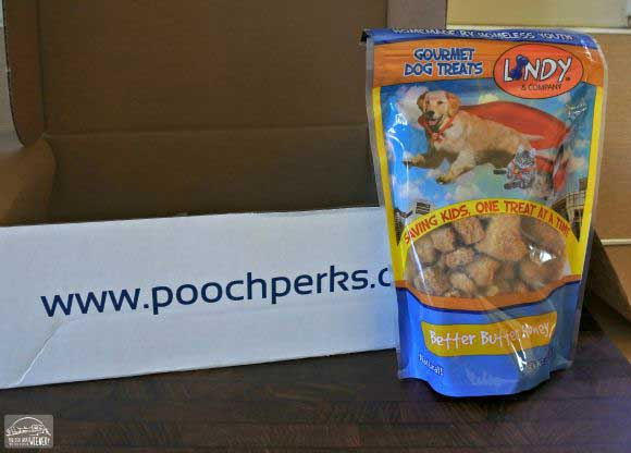 Lindy and Company treats from our Pooch Perks box