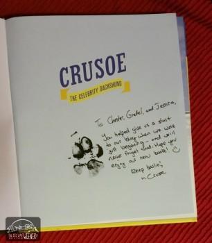 Crusoe Book Pawtograph