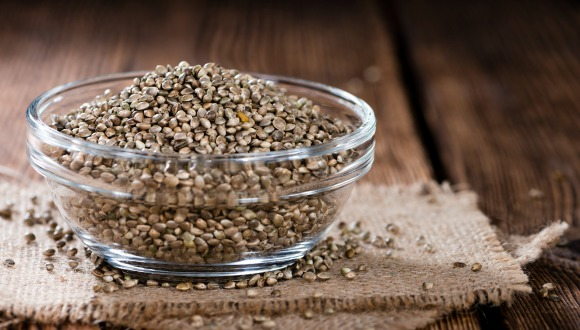 Hemp Seeds in a bowl