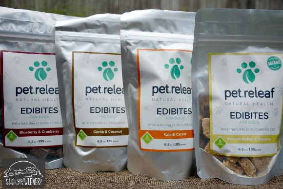 Pet Releaf CBD dog treat flavors