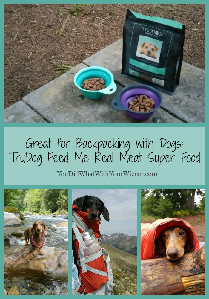 TruDog Real Meat Super Food: Great for Backpacking with Dogs