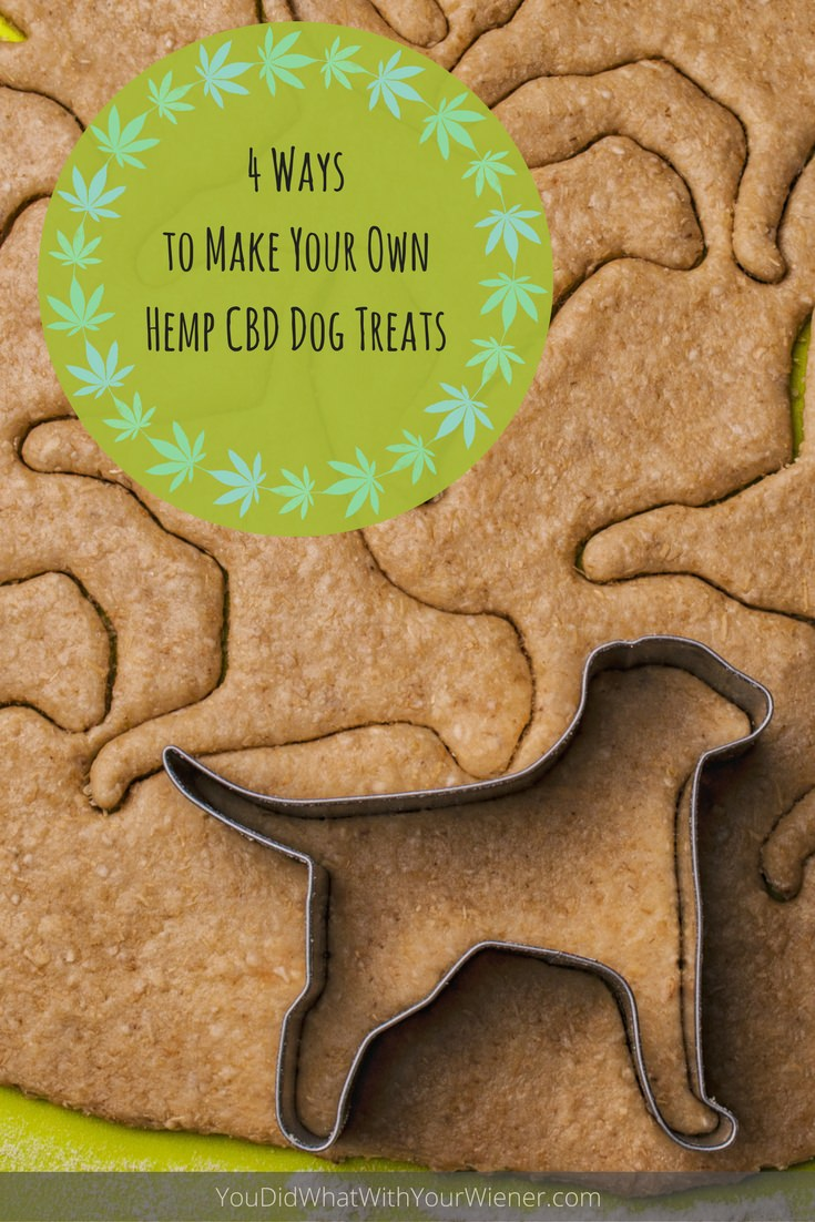 Using Hemp CBD oil, there are several ways you can make your own dog treats at home