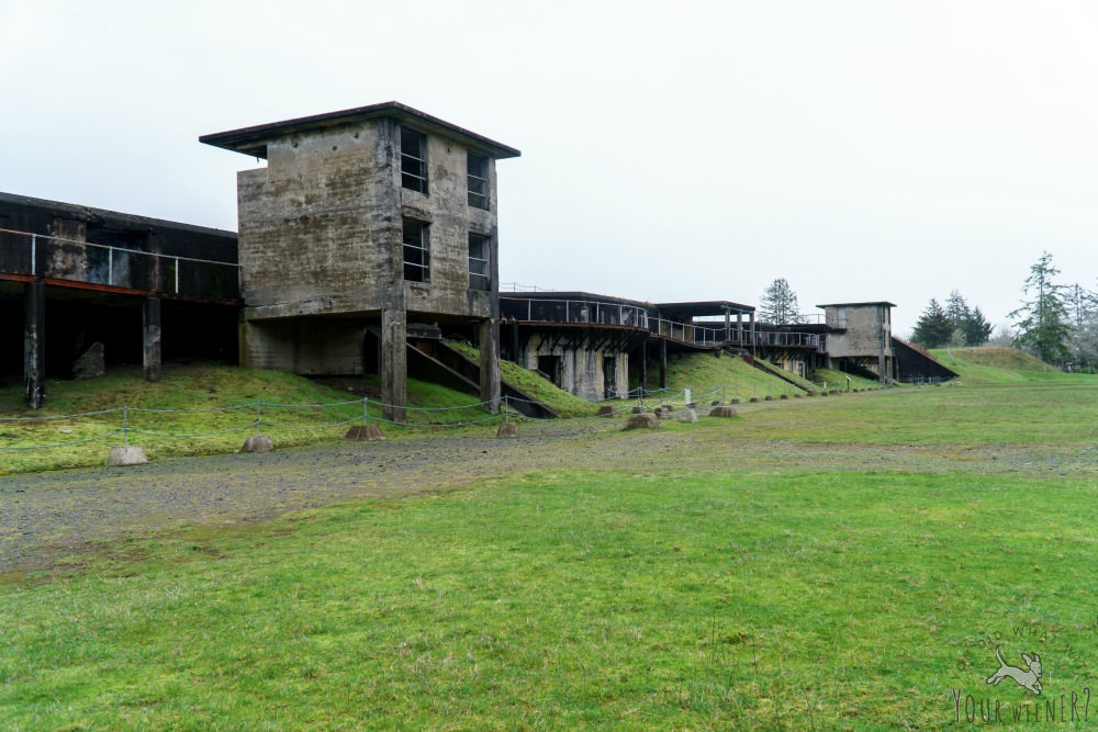 The Fort Stevens State Park military bunkers with your dog