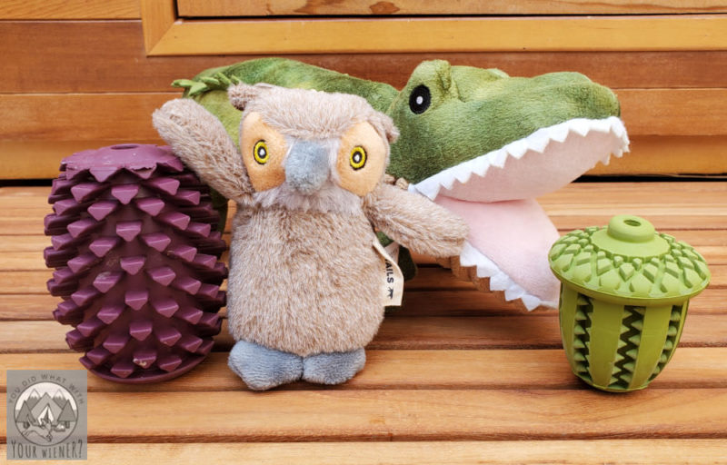 Group of dog toys by Tall Tails